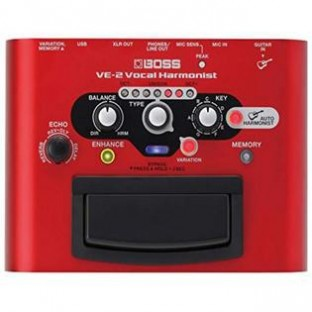 Boss Audio Systems Boss VE-2 Vocal Harmonist Effects Pedal Stompbox with Power Supply Bundle