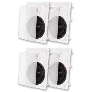 Acoustic Audio MT8 Flush Mount In Wall Speakers with 8