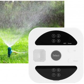A sixx Irrigation Controller, 8‐Zone Sprinkler Controller, Automatic WiFi Smart for Indoor Outdoor(US Standard 120V)