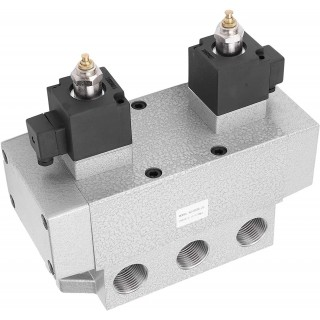 3‐Position 5‐Way Electric Solenoid Air Valve G1in 0.15‐0.8Mpa K35D2H-25 Double Coil Magnetic Valve(DC24V)