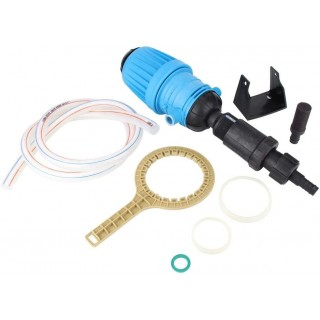 1%-10% Garden Farming Device Chemical Fertilizer Injector Proportioner Liquid Doser Tool, Powered by Flowing Pressure Water, Easy to Adjust Dose and Use, Durable/Stable.