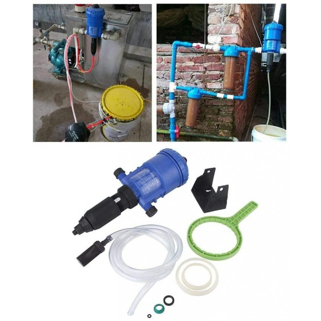 1%-5% Garden Farming Device Chemical Fertilizer Injector Proportioner Liquid Doser Tool, with a Vent Valve and Accurate Clear Scale, It is Easy to Adjust Dose and Use, Durable/Sturdy.