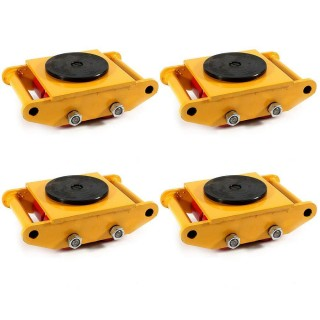 4Pcs Machinery Mover Set Machine Dolly Skate 4 Rollers 6Ton with 360¡ã Rotate Cap