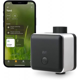 Eve Aqua – Apple HomeKit Smart Home, Smart Water Controller for Sprinkler or Irrigation System, Automate with Schedules, Bluetooth and Thread, App Compatibility
