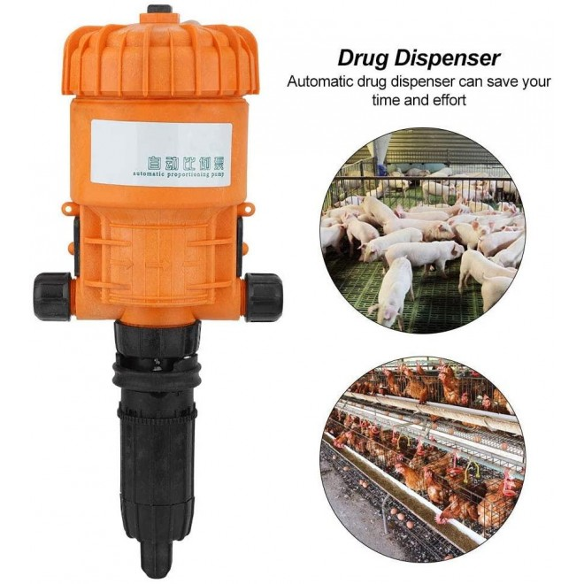 0.2%-2% (1:50-1:500) Can Be Reused Chemical Liquid Doser Dispenser, Gardening Tool, Water-Powered ABS for Industry Garden Hose Livestock