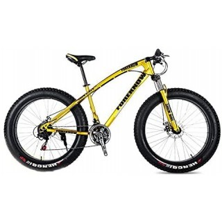 CHICAI 20-inch High Carbon Steel Cross Country Bike Mountain Bike 21/24/27/30 Speed Bike Full Suspension Bike Equipped with Double Disc Brake (Size : 21-Speed)
