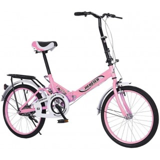 20 inch Folding Road Bike, Portable Light Weight Bicycle for Students Adults, Mini Compact Bikes, Leisure Urban Commuters City Cycling