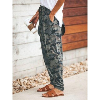 Camouflage Printed Casual P ts