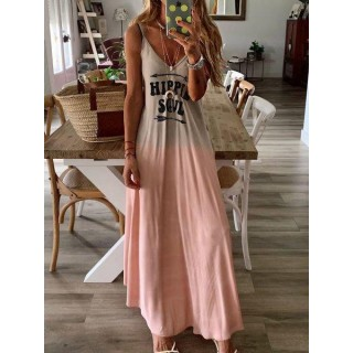 Cotton Solid Sleeveless Color Block Dress