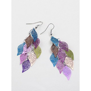 Womens Leaf Copper Colorful Earr g