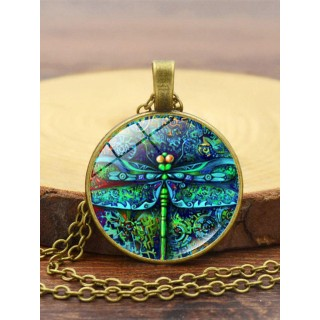 Insect spring gar n time gemstone fashion pendant necklace