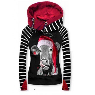 Ca ual contra t color hoodie